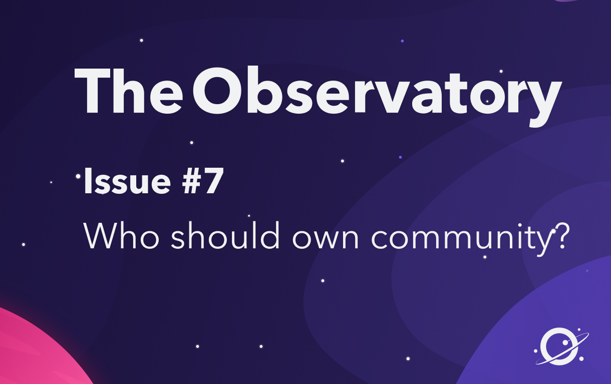Who should own community?