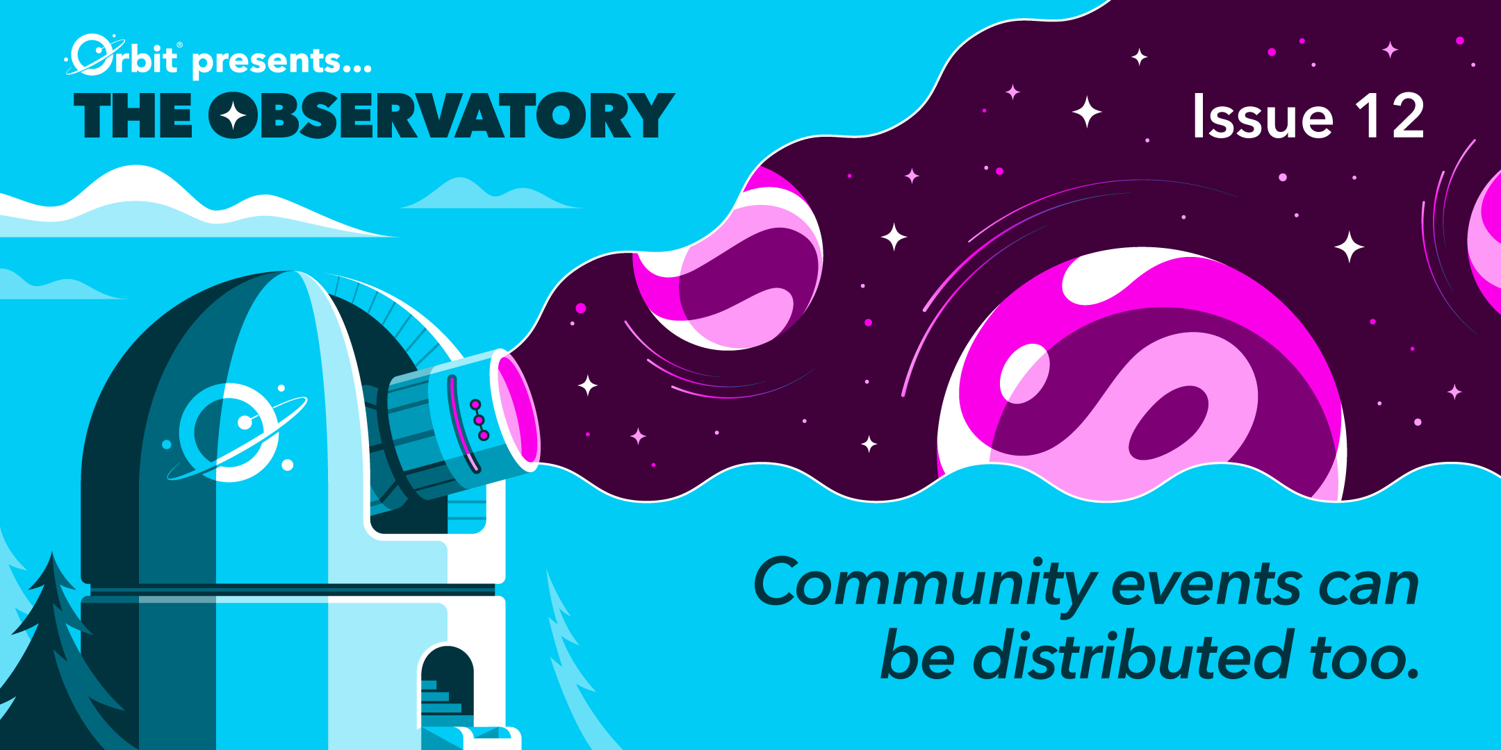 Community events can be distributed too