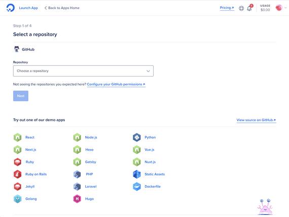 App Platform Screenshot