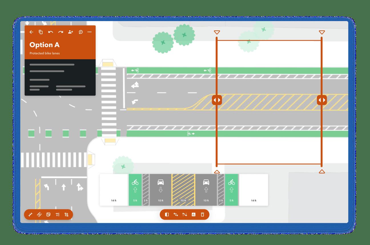 Illustration for street design by Remix.