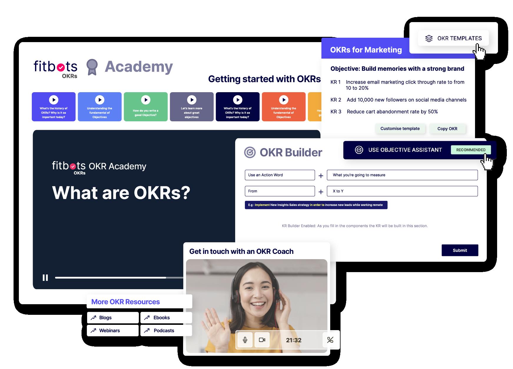 OKR Builders . Fitbots OKR Software   Best OKR Experts Best OKR Coaches Best OKR Software Best OKR Certification Best OKR Platform OKRs vs KPIs What are OKRs ? Best OKR Tool