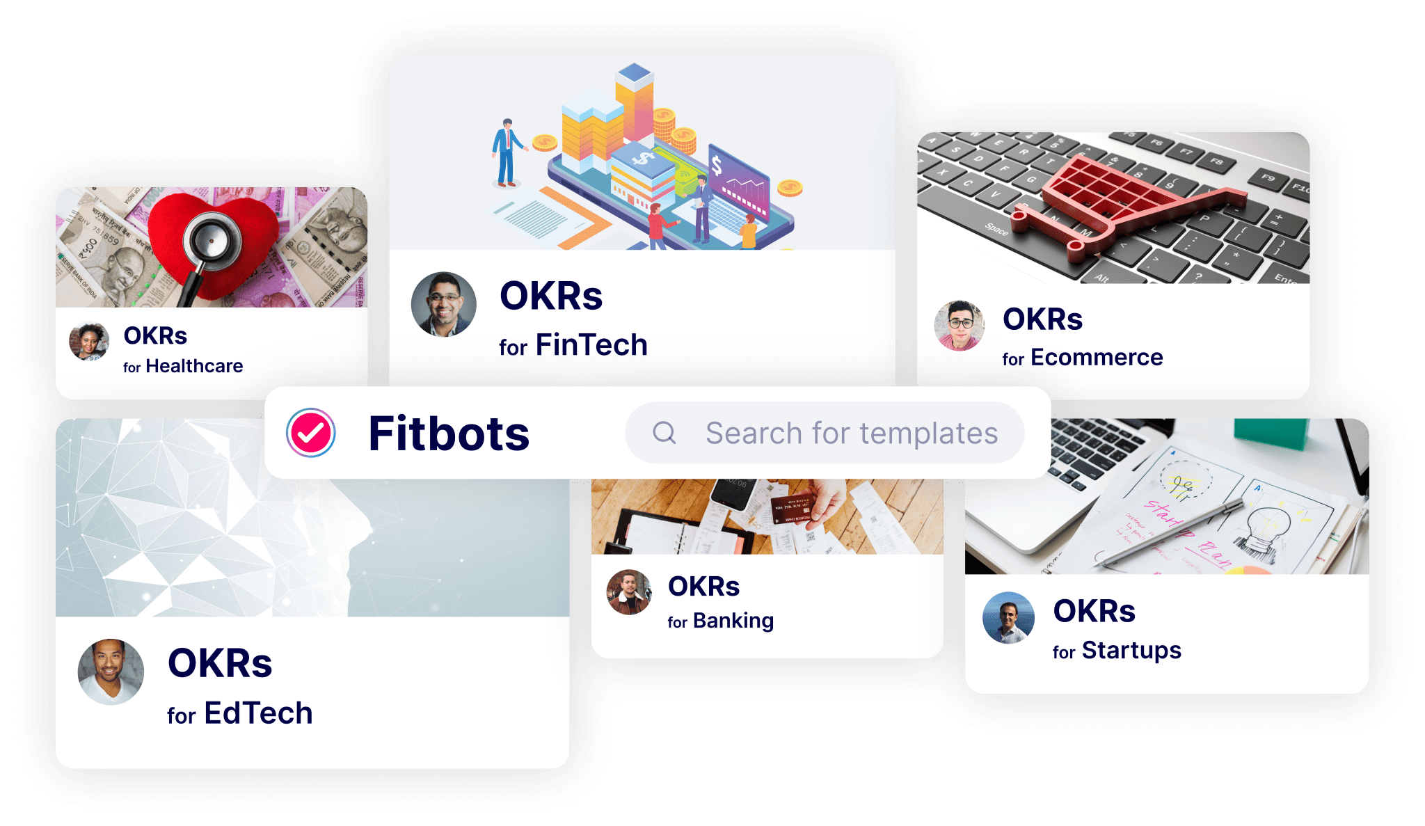 OKR Templates. OKR Templates for Startups OKRs Examples for Fintech OKRs for Healthcare OKRs for Banking OKRs for Finance
