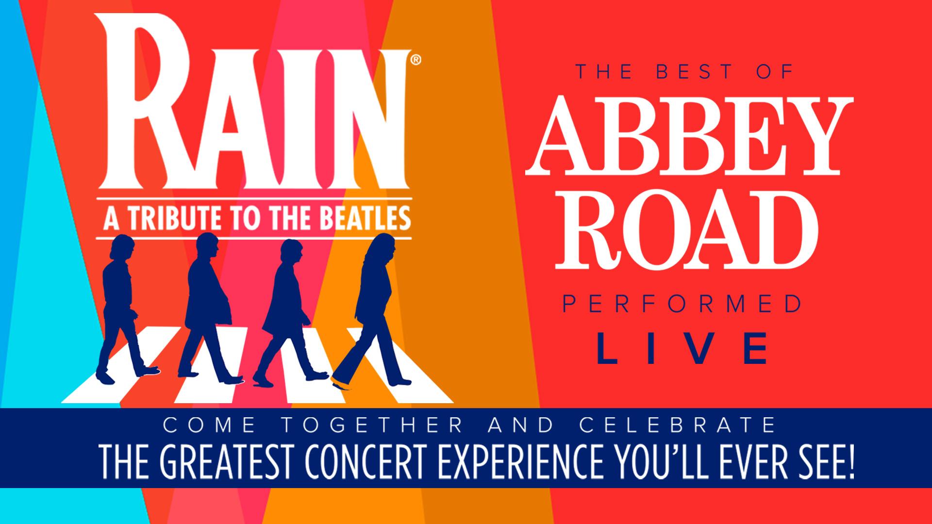 RAIN, Beatles Tribute, tysons, capital one hall, things to do, capital one center, The Beatles, tribute band, Yellow Submarine, Abbey Road