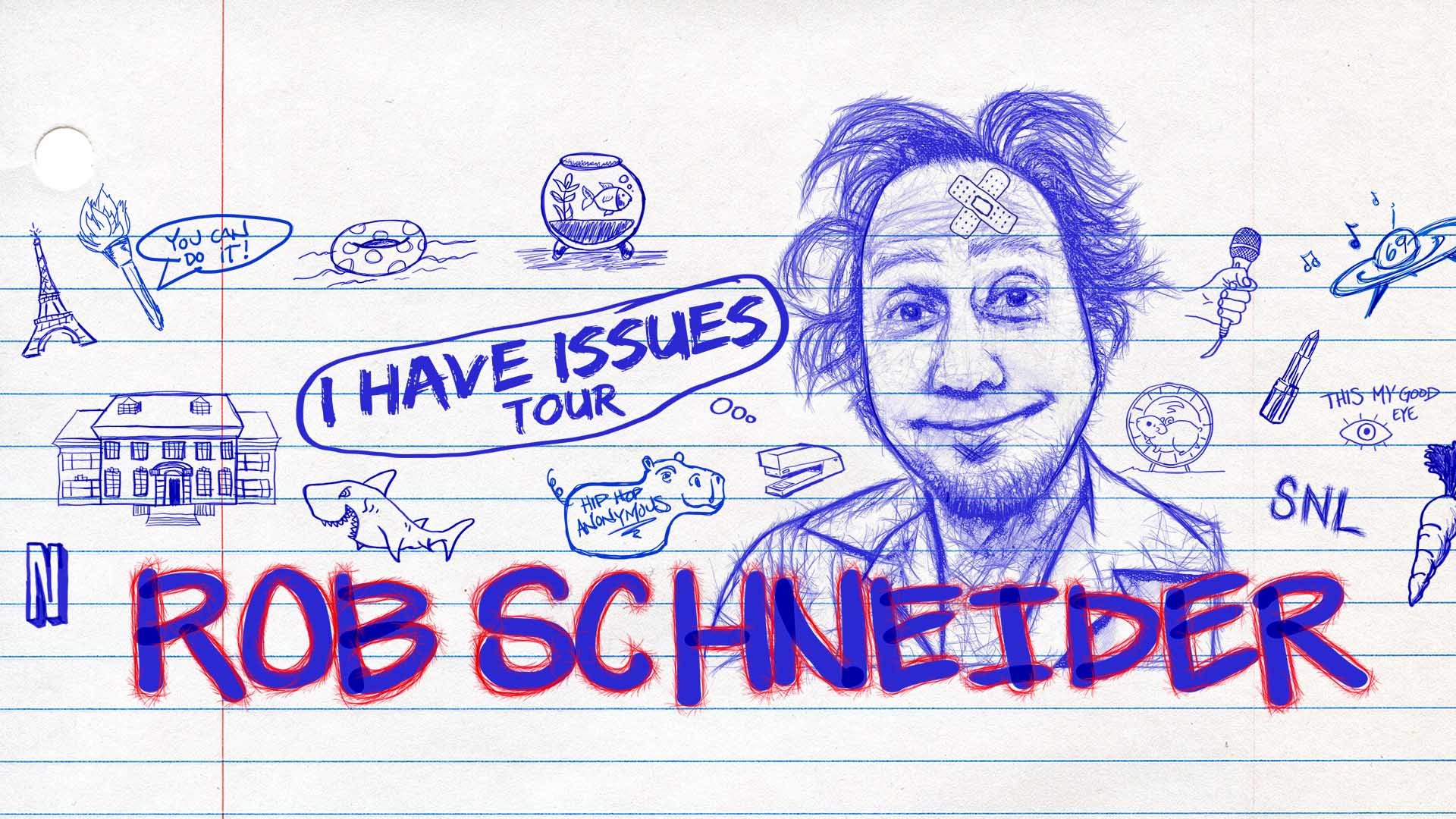 Rob Schneider, comedy, stand up comedy, capital one hall, capital one center, things to do in DC, comedian, Tysons, I Have Issues, Saturday Night Live, SNL, Deauce Bigalow