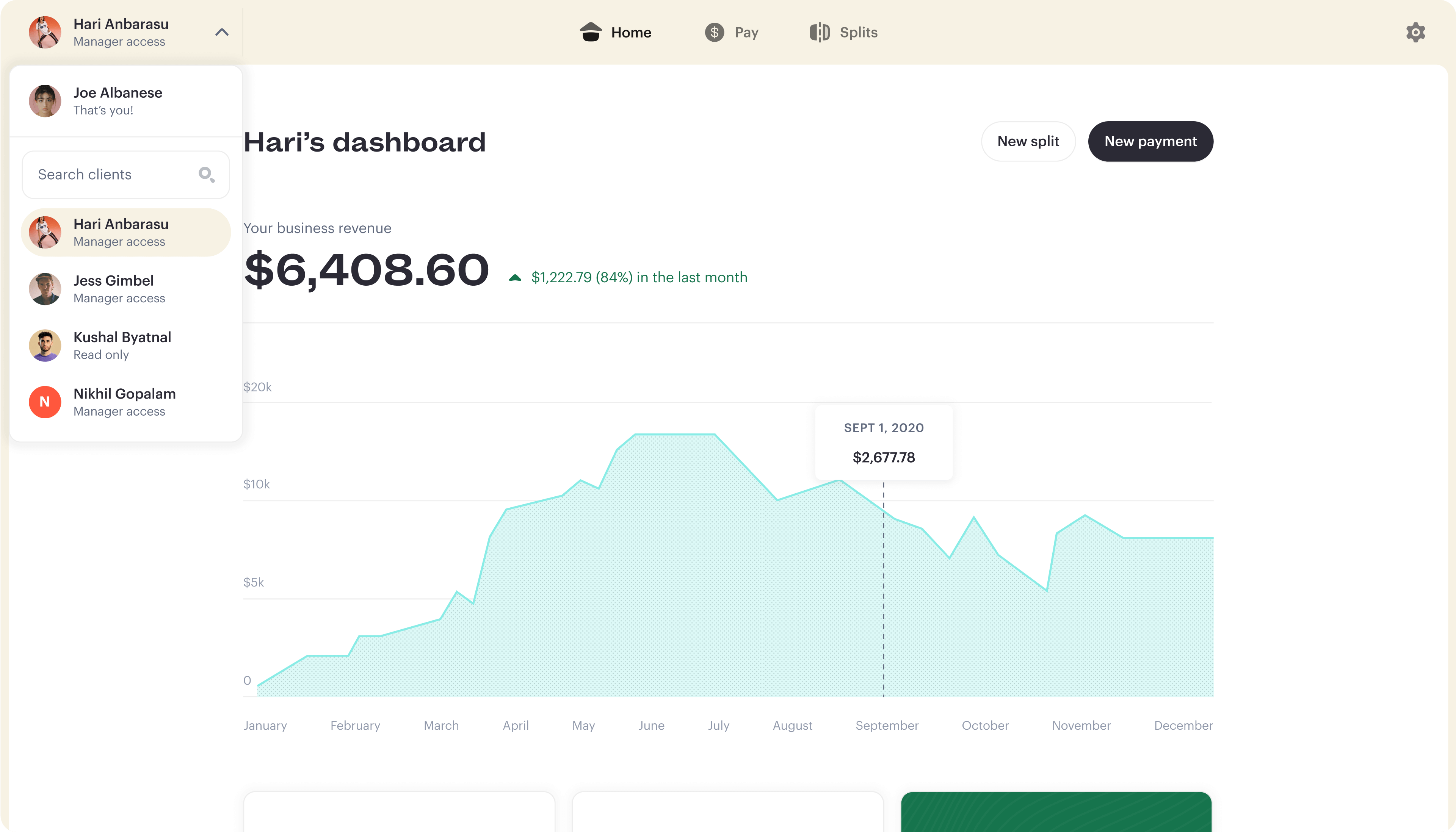 Stir Dashboard for Managers