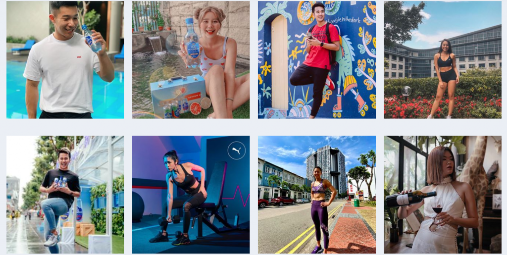 """Influencer trends for """"exercise and fitness"""" interest"""
