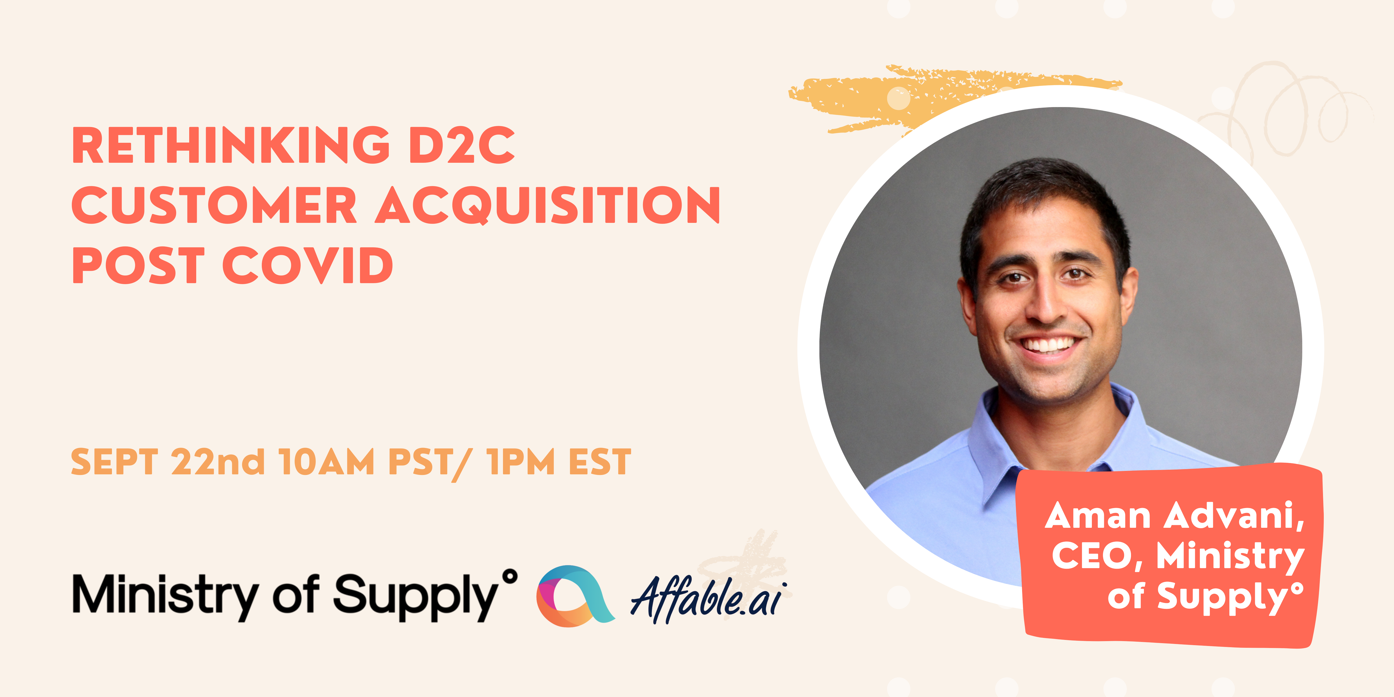 🗣 Rethinking D2C Customer Acquisition Post COVID: Conversation with Aman Advani from Ministry of Supply