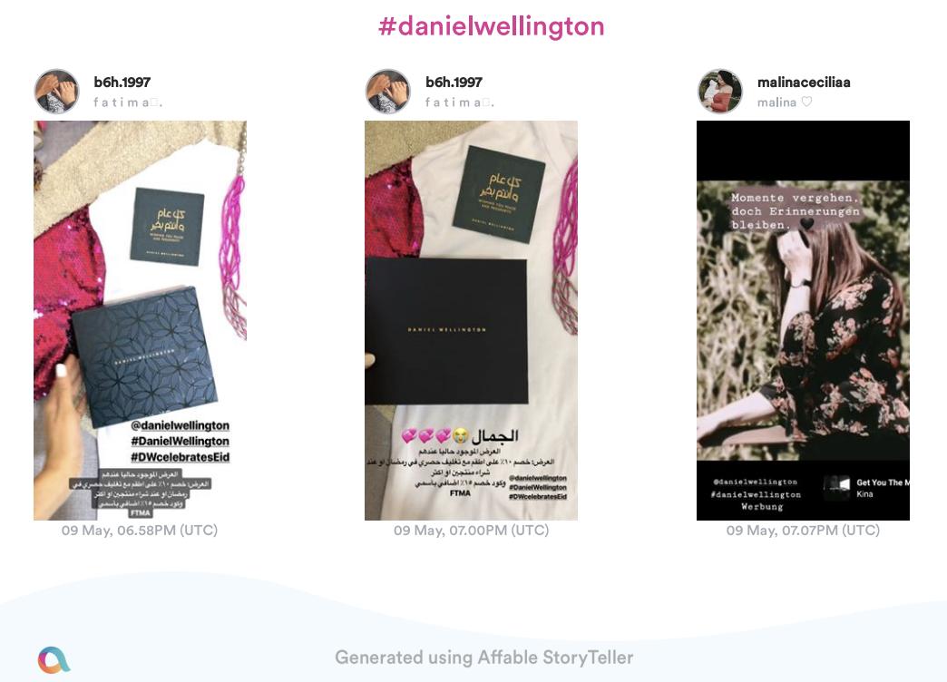 Affable Influencer Marketing Platform helps you track stories