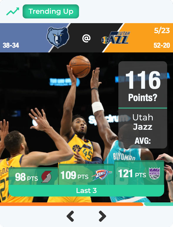 The Utah Jazz are trending up. Can they score 116 Points against the Memphis Grizzlies?
