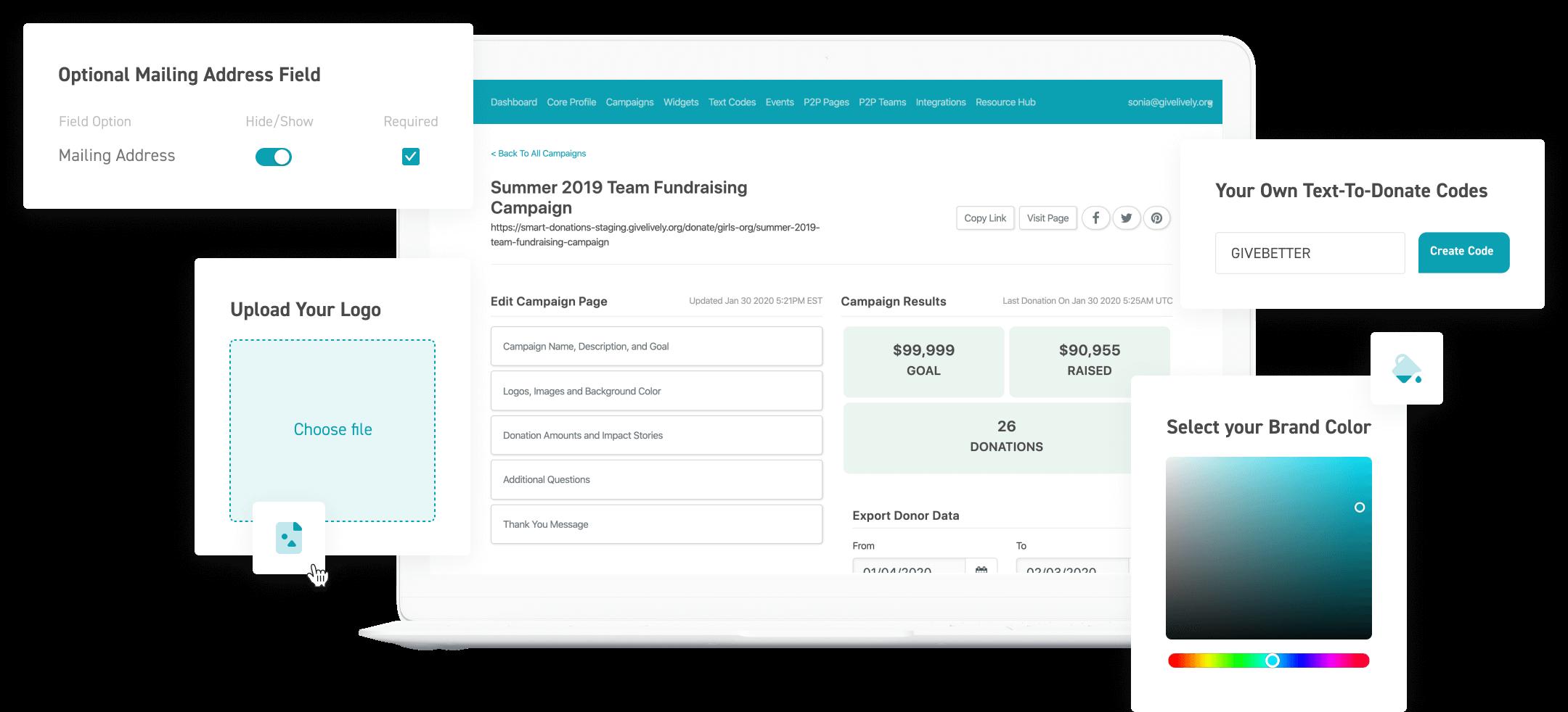Give Lively Nonprofit Admin Portal