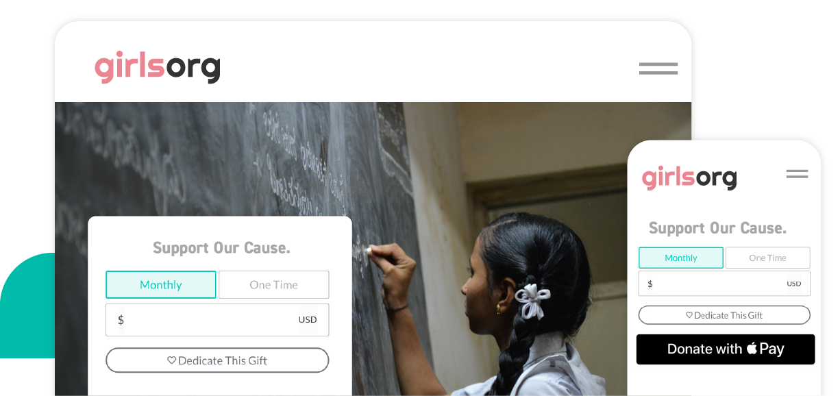 Example of a Give Lively's donation widget embedded on a nonprofit's website.