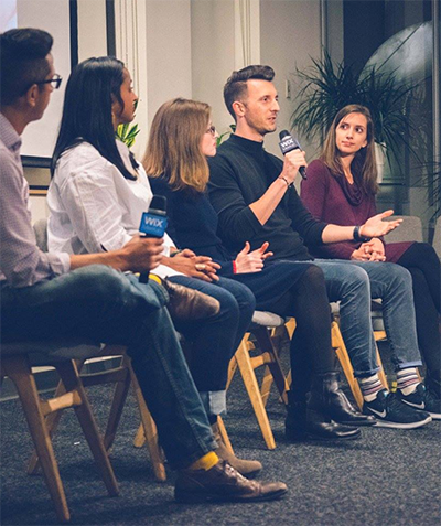 CEO of Give Lively, David DeParolesa, speaking in a panel of a nonprofit event