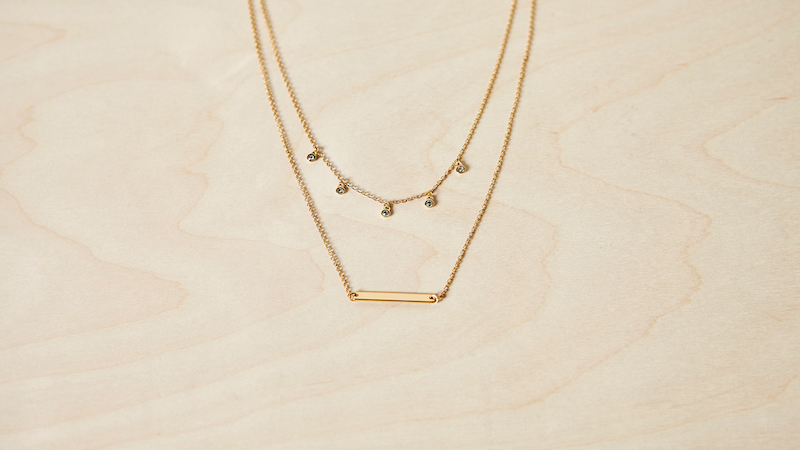 Fosterie Layered Gem Necklace photo for Member Favorites section