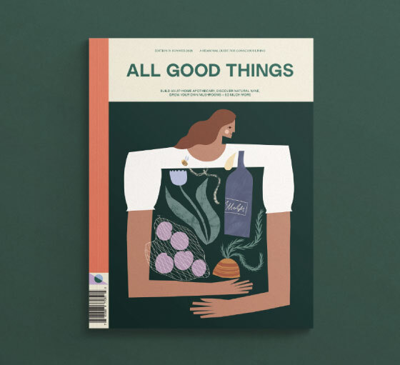 Illustration image of the All Good Things magazine cover