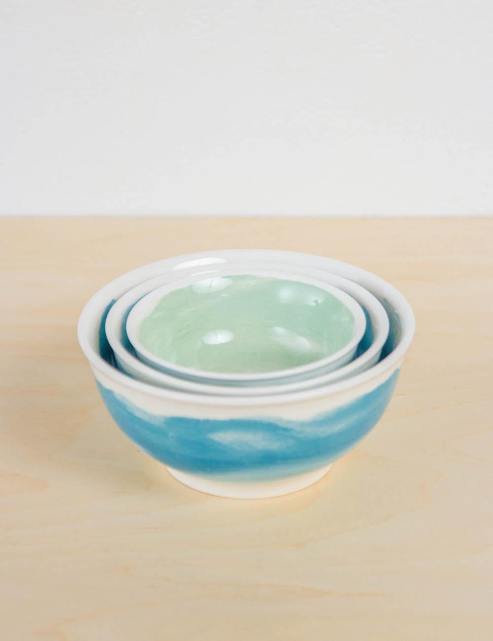 Pepper + Vetiver Set of 3 nesting bowls