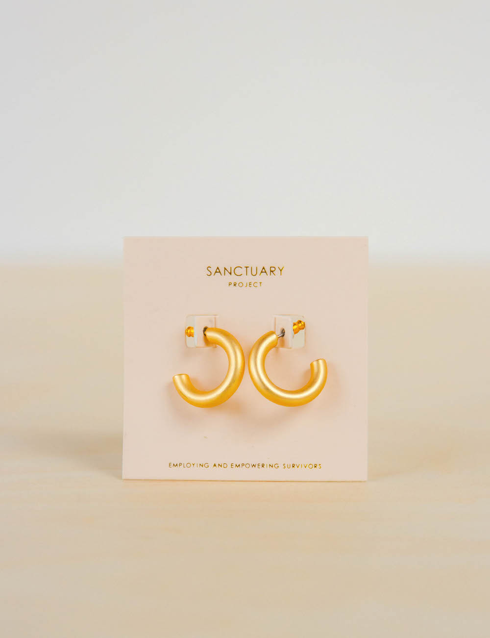 Sanctuary Project Thick Gold Hoops look inside