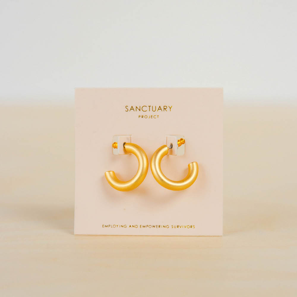 Sanctuary Project Thick Gold Hoops