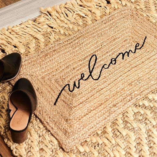 accompany jute welcome mat