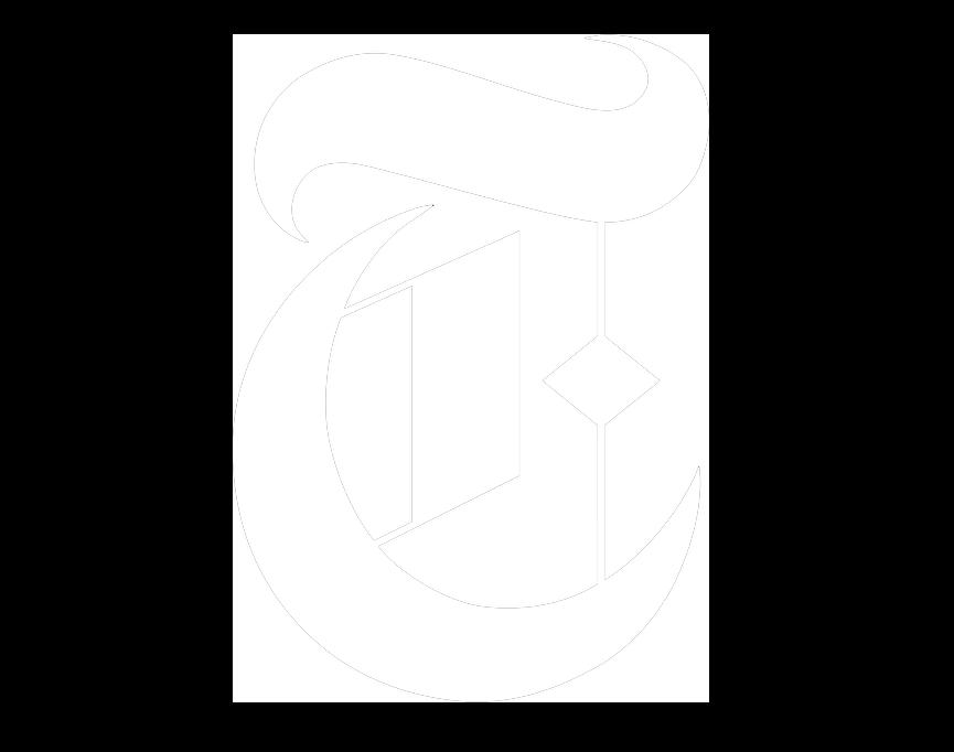 New York Times white logo