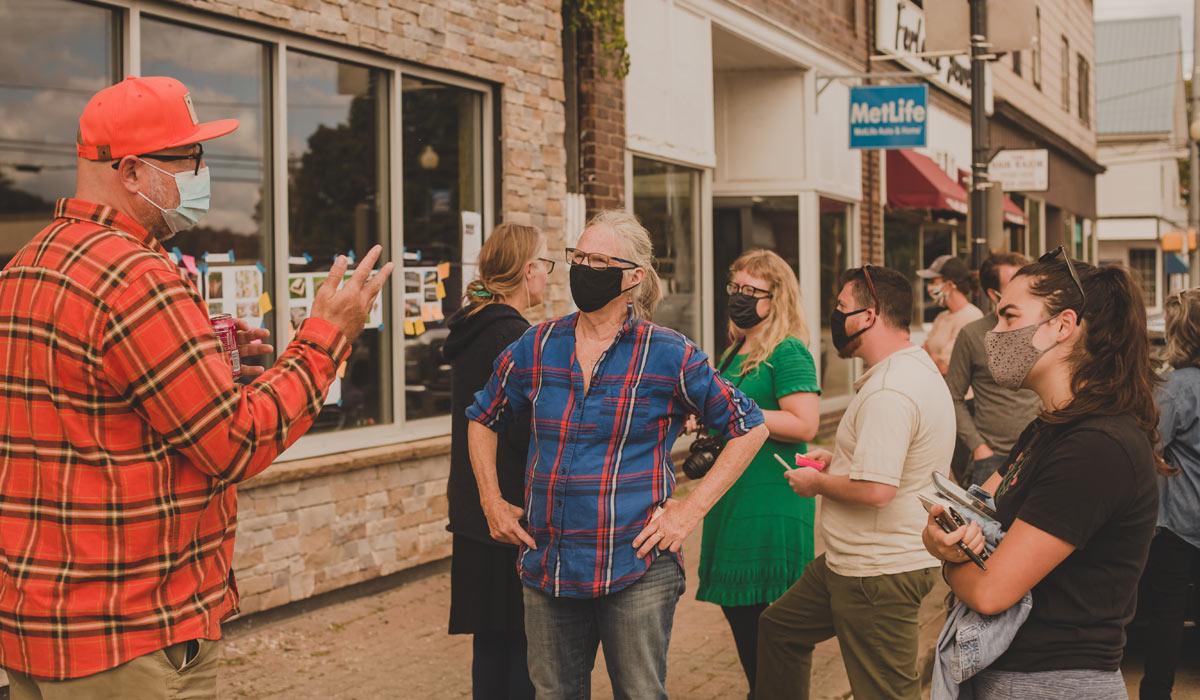 Workshop participants gathering along Penobscot Avenue, PC: Malorrie Ann Photography