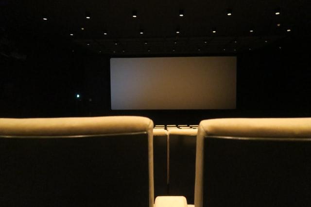 Cinema chairs and screen