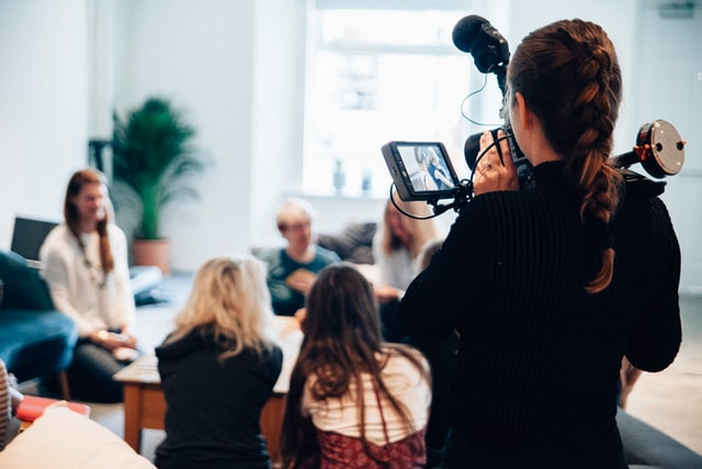 Filming Small Group of People