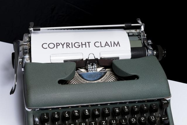 Typewriter Copyright Text