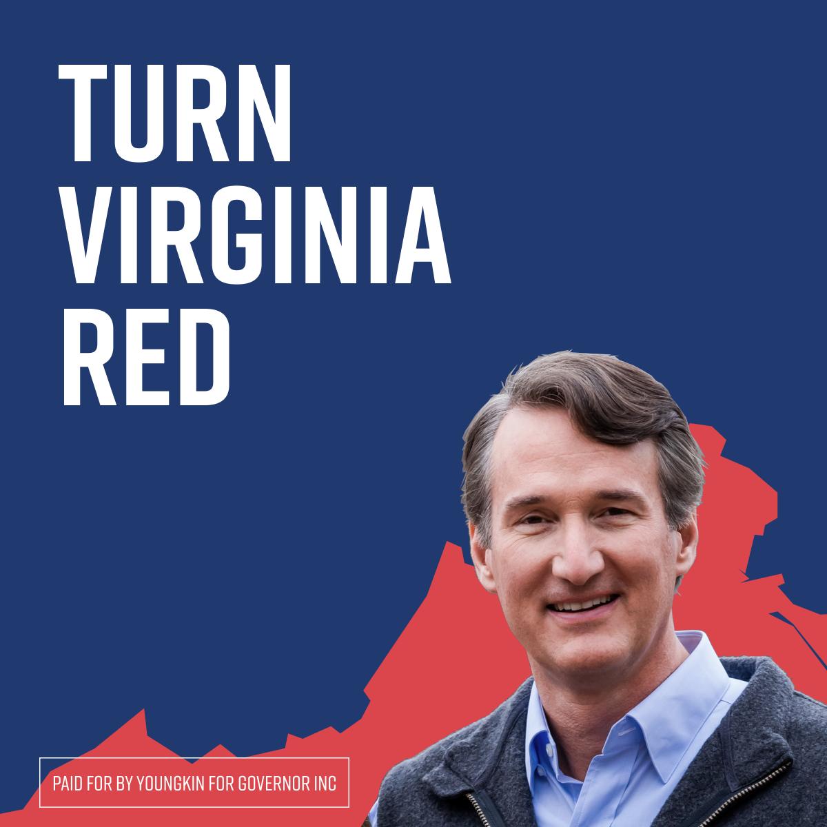 Youngkin Turn Virginia Red Social Post
