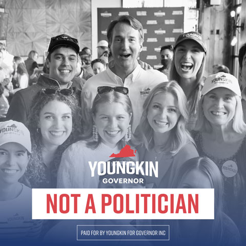 Youngkin Not A Politician Social Graphic