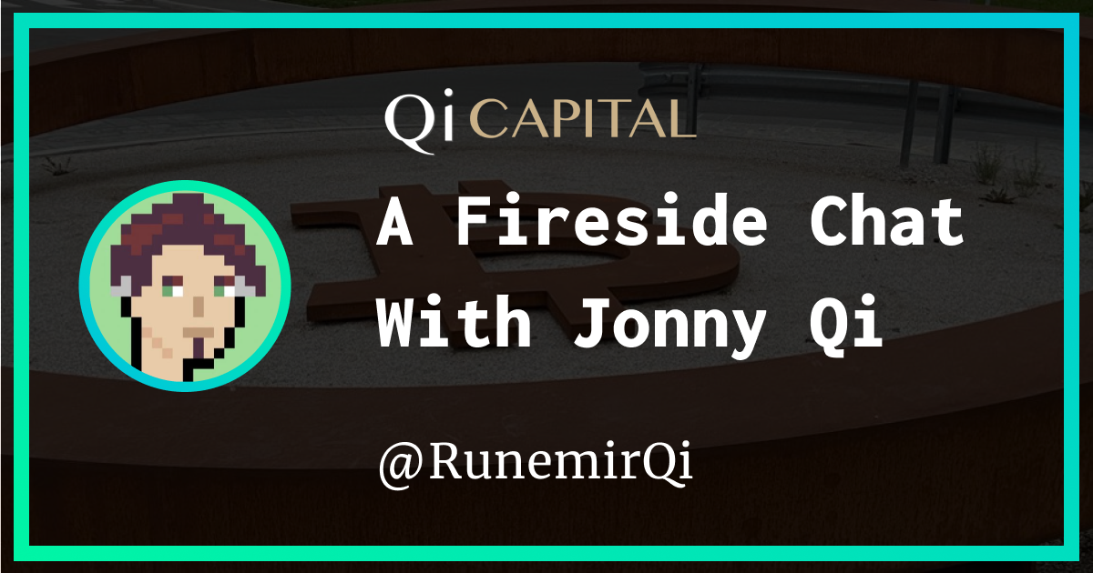 """On today's podcast, I had the pleasure of speaking with @Jonny-Qi, aka """"Runemir"""" - one of the founding partners and """"Chief Narrative Officer"""" of Qi Capital."""