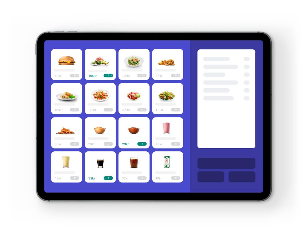 Kassasystem i iPads som många i branschen redan är bekanta med vilket ger snabb onBoarding och låg tröskel.