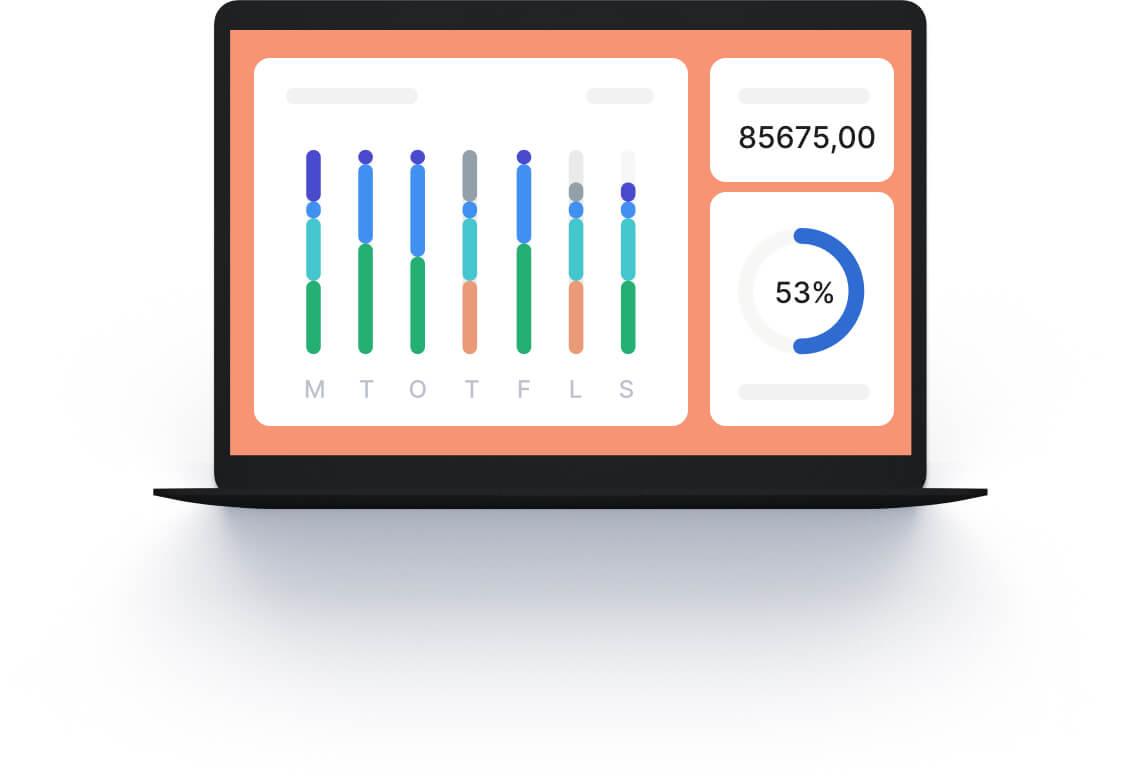 Dashboard vid analys ger dig översikt och kontroll på din verksamhet.