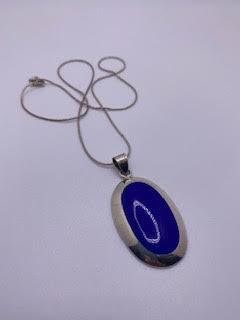 Silver & Blue Pendant Necklace