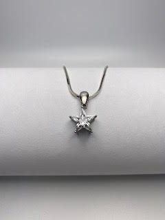 Sterling Silver necklace w/stone star