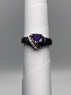 White Gold w/purple stone and accent stones