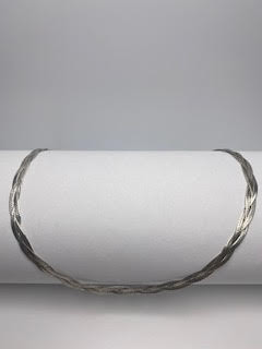 Sterling Silver Flat Braided Chain