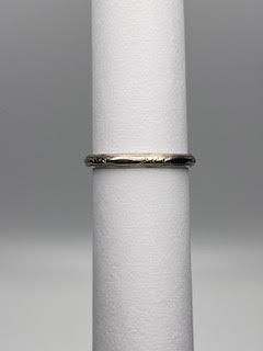 White Gold thin detailed ring