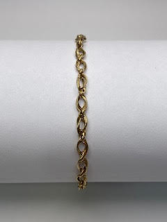 Gold linked Bracelet
