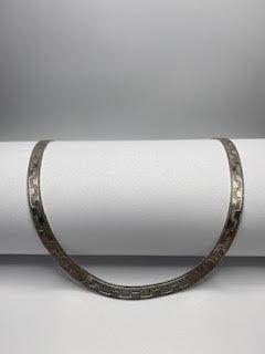 Sterling Silver Harring Bone Necklace