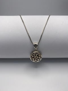 Sterling Silver Double-sided necklace