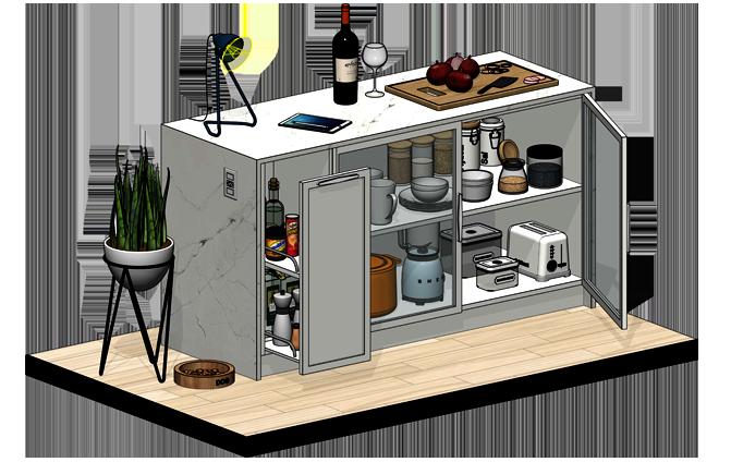 Famílias de cozinha para Revit