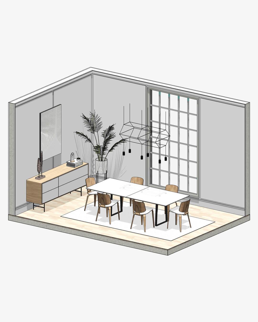best interior design revit families