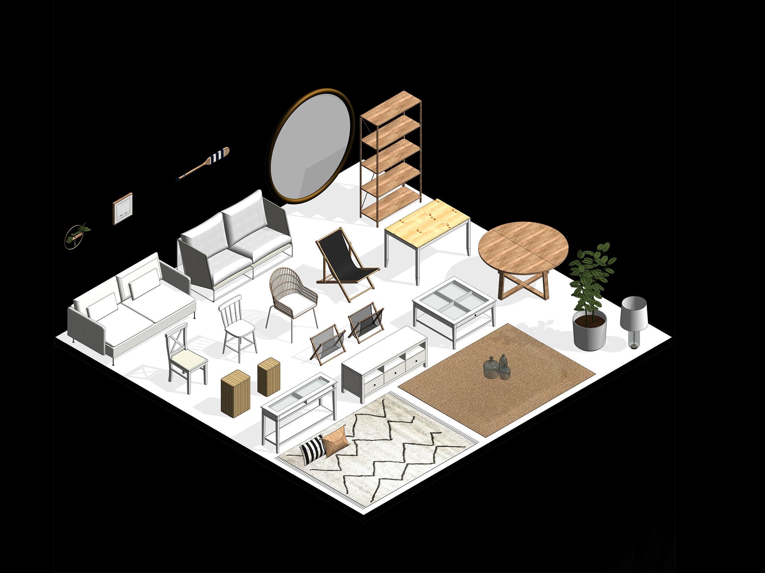 Famílias paramétricas para projeto de interiores