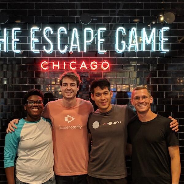 escape room team photo