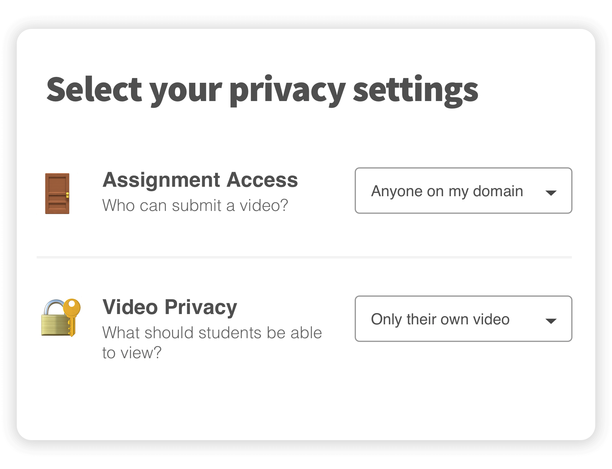 submit privacy features