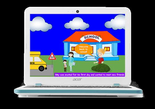 storytelling chromebook app hub example