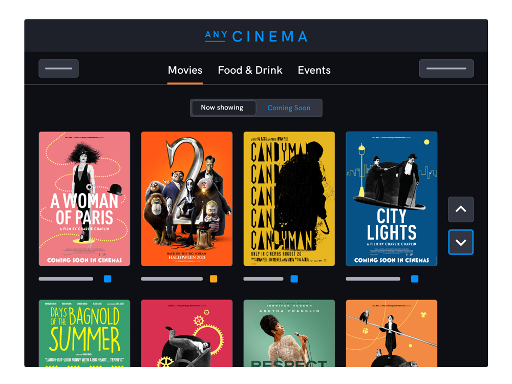 Self service kiosks for cinemas