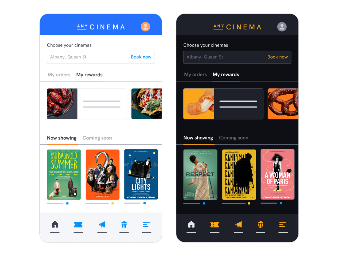Highly customisable websites, mobile apps and kiosk for cinemas