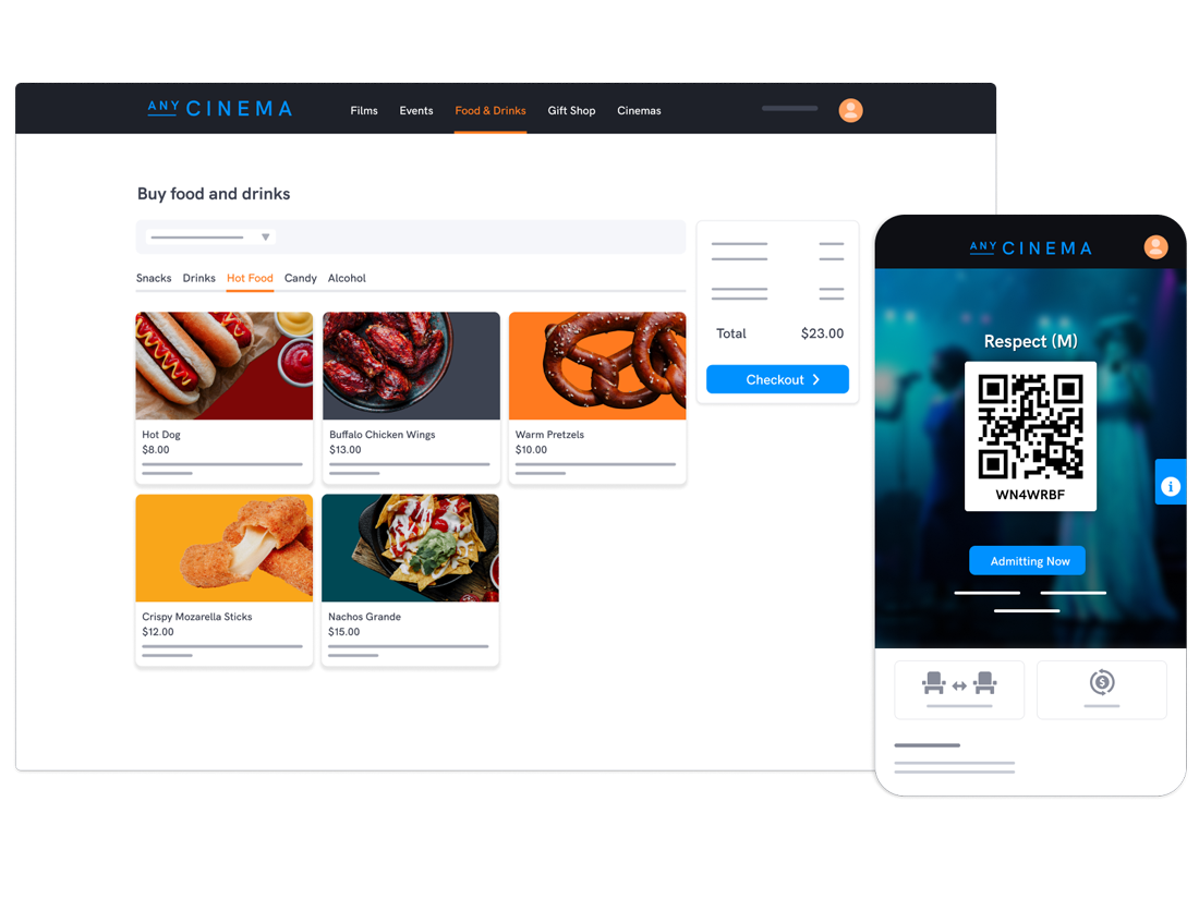Seamlessly connect online and on-site moviegoer experiences