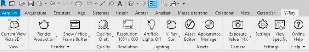 Interface v-ray